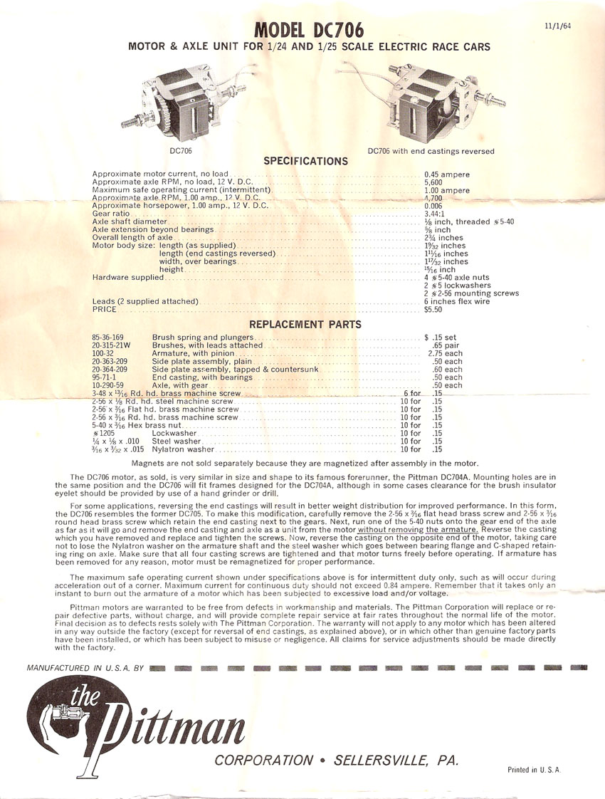 Dc 700 series motors pittman era slotblog 53 dc706 spec sheetg keyboard keysfo Image collections
